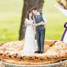 Vintage Style Wedding Couple Cake Topper Select From 7 Hair Colors