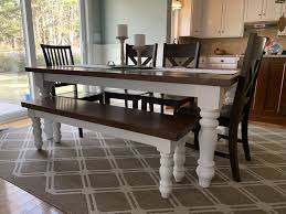 Set Your Kitchen Off With A Turned Leg Farm Table And ... Lindsey Farm 6piece Trestle Table Set Urban Chic Small Ding Bench Hallowood Amazoncom Vermont The Gather Ash 14 Rentals San Diego View Our Gallery Lots Of Rustic Tables Jesus Custom Square Farmhouse Farm Table W Matching Benches Reclaimed Chestnut Wood Harvest Matching Free Diy Woodworking Plans For A Farmhouse Handmade Coffee Ashley Distressed Counter 4 Chairs Modern Southern Pine Wmatching Bench