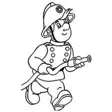 Printable Fire Man Fighting Coloring Sheets