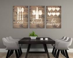 Rustic Eat Drink Be Merry Wall Art Sign Kitchen Decor