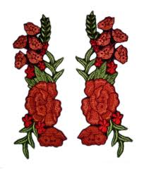 The Great American Pumpkin Patch Arthur Il by Iron On Flower Patch 2 Pcs Mirror Floral Patches Red