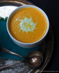 Spicy Pumpkin Butternut Squash Soup by Spicy Butternut Squash Bisque With Fire Roasted Jalapeno Cream