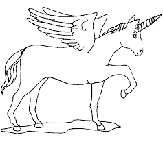 Collection Of Unicorns With Wings Coloring Pages
