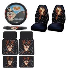 Betty Boop Seat Covers And Floor Mats by New Set Tasmanian Devil Taz Seat Covers Steering Wheel Cover