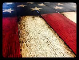 Verticle Hanging American Flag Sign Rustic