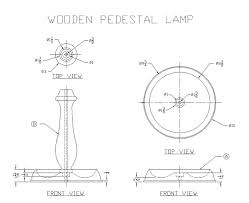 how to build a wooden pedestal lamp free woodworking plans at