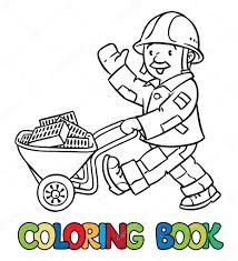 Livre De Coloriage De Travailleur Ou Du Conducteur Drôle Cliparts