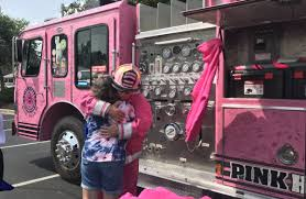 100 Pink Truck Fire Truck Makes Its Way To Greenfield To Support Families