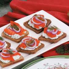 healthy canapes recipes smoked salmon canapes recipe taste of home