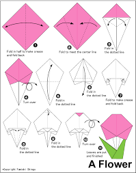 Easy Origami Flower With One Piece Of Paper