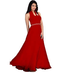 lady shop red georgette partywear gown buy lady shop red