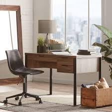 Crazy Horse Faux Leather And Iron Rolling Office Chair | Bouclair.com