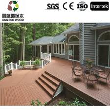 Engineered Wood Outdoor Timber Deck Boards Synthetic Decking Low Price Wpc Flooring