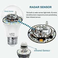motion sensor light bulb 5w smart bulb radar dusk to led