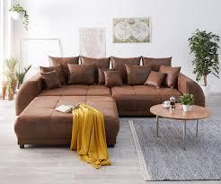 big sofa violetta 310x135 braun antik optik hocker kissen