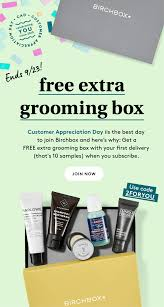 Birchbox Grooming Customer Appreciation Day Coupon: FREE ... Sephora Canada 2019 Chinese New Year Gwp Promo Code Free 10 April Sephora Coupon Promo Codes 2018 Sales Latest Clinique September2019 Get Off Ysl Beauty Us Code Mount Mercy University Ebay Coupon Codes And Deals September Findercom Spend 29 To Get Bonus Uk Mckenzie Taxidermy Code Better Seball Coupons Iphone Upgrade T Mobile Black Friday Deals Live Now Too Faced Clinique Pressed Powder Makeup Compact Powder 04