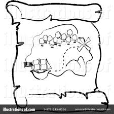 Treasure Map Clipart Illustration by Pams Clipart