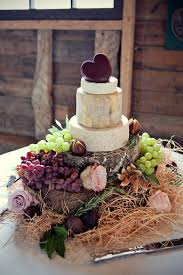 Rustic Cheese Wedding Cake