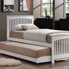 Bed Frame Types by Trundle Bed White Trundle Bed Made From Assorted Types Of Woods