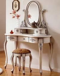 Hayworth Mirrored Dresser Antique White by Sleek Laminate Floor With Antique White Vanity Table Set Plus