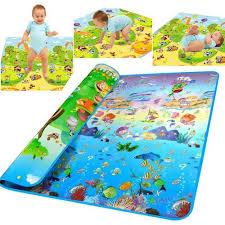 tapis de jeux voitures de jeu multicolore tapis pour bébé océan voiture animaux 200 x 180cm