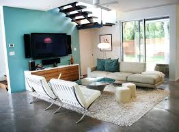 Living Room Theater Fau by Modern Teal Living Room Sleek Living Room Modern Living Room