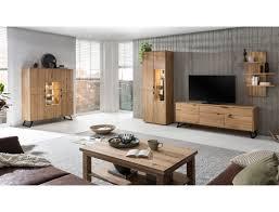 wohnzimmer porto 32 eiche bianco massiv 5 teilig wohnwand couchtisch expendio