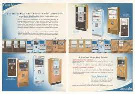 Coffee Mat Vending Machines 4 Page Trade 1968