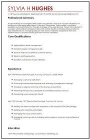 British CV Sample