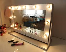 Makeup Vanity Table With Lights And Mirror by Hollywood Lighted Vanity Mirror Large Makeup Mirror With