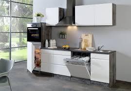 küchenzeile cardiff küche mit e geräten breite 280 cm hochglanz weiß