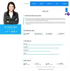 Resume Website Template Github Web Free