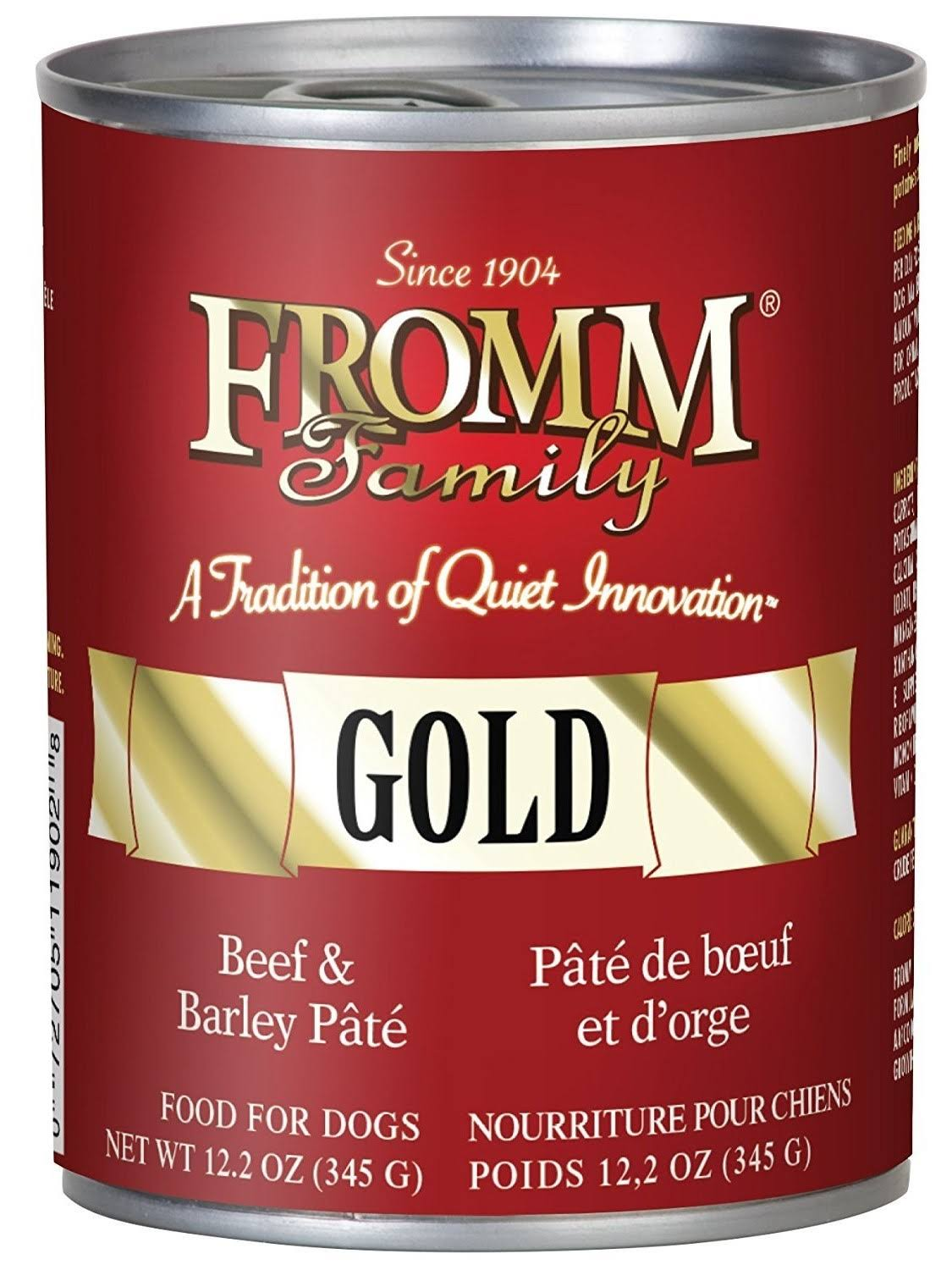 Fromm Family Gold Canned Dog Food - Beef & Barley Pate