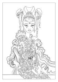 This Is Our Coloring Page With A Japan Woman By Celine
