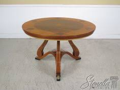 22372 JOHN WIDDICOMB Round Inlaid Rosewood Dining Room Table Be Sure To View Our Other