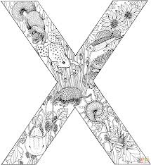 Letter X With Animals