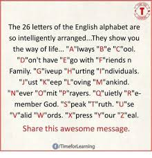 The 26 Letters the English Alphabet Are So Intelligently
