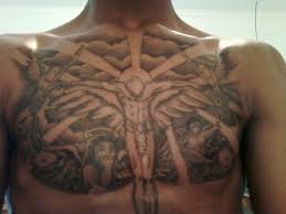Cloud Chest Piece Tattoos For Men