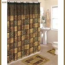 Leopard And Red Bathroom Decor by Leopard Print Shower Curtain Foter
