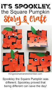 Pre K Halloween Books by Spookley The Square Pumpkin Craft Fun Fall Activities Squares