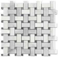 8 95 sf carrara pietra 1x2 basketweave honed mosaic with a