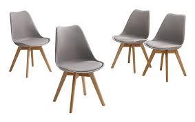 kosy koala satz mit 4 grau hölzern esszimmer tulpenstühlen kunststoff lounge küche stühle x4 dunkel grau stühlen