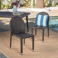 Aries Outdoor Aluminum Frame Wicker Stackable Dining Chairs - Set Of 2 Gdf Studio Dorside Outdoor Wicker Armless Stack Chairs With Alinum Frame Dover Armed Stacking With Set Of 4 Palm Harbor Stackable White All Weather Patio Chair Bay Island Noble House Multibrown Ding 2pack Plowhearth Bistro Two 30 Arm Brown 51 Bfm Seating Ms11cbbbl Gray Rattan Inoutdoor Restaurant Of Red By Crosley Fniture