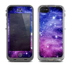The Purple and Blue Scattered Stars Skin for the Apple iPhone 5c