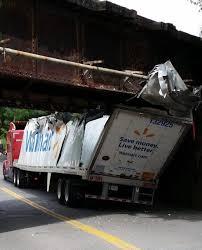 100 Truck Stuck Under Bridge Schenectady New York