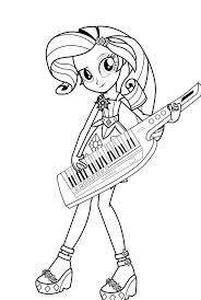 My Little Pony Equestria Girls Rainbow Rocks Coloring Pages Printable Elegant Mlp Eg