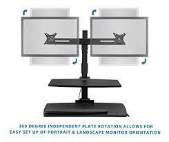 Multiple Monitor Standing Desk by Get Mount It Sit Stand Desk Converter With Dual Monitor Mounts