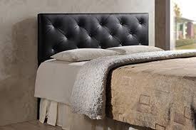 Black Leather Headboard King by Amazon Com Wholesale Interiors Baxton Studio Baltimore Modern