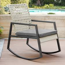Shifflett Modern Patio Rocking Chair With Cushion