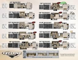 Raptor 5th Wheel Toy Hauler Floor Plans by 16 Cyclone 5th Wheel Toy Hauler Floor Plans Small Toy